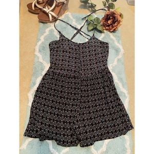 R D Style black and Red pattern Romper